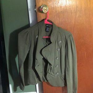 Olive green wet seal jacket